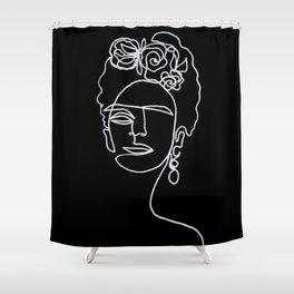 Frida Kahlo BW Shower Curtain