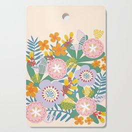 Radiant Flowers Pastel Cutting Board