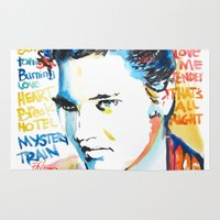 elvis Area & Throw Rugs featuring Elvis by Phil Fung