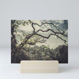 Tree in the mountains Mini Art Print
