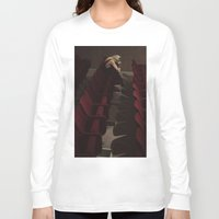 theatre Long Sleeve T-shirts featuring Theatre girl by Jovana Rikalo
