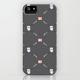 Horror Movie Pattern iPhone Case