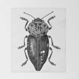 Beetle 11 Throw Blanket