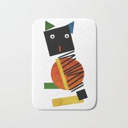 Black Square Cat - Suprematism Bath Mat