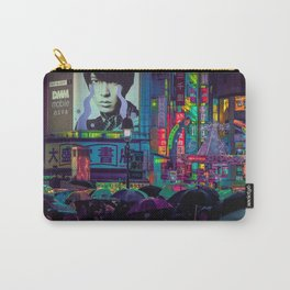 Tokyo Nights / Shibuya Neon Noir / Rain / Liam Wong Carry-All Pouch