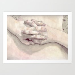Lucas' Hands Art Print