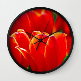 Red Tulips Festival Wall Clock