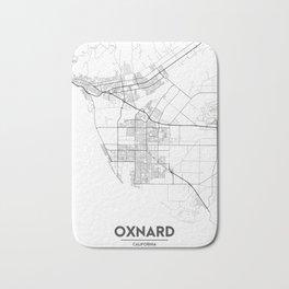 Minimal City Maps - Map Of Oxnard, California, United States Bath Mat