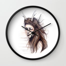 Windblown // Fashion Illustration Wall Clock