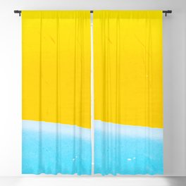 Sea & Sand Watercolor painting Abstract Blackout Curtain