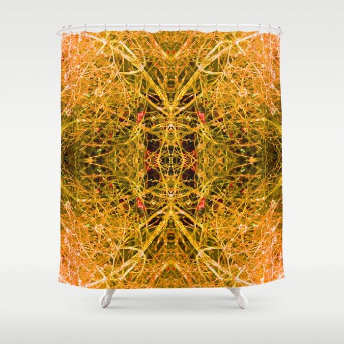 The magic of orange water Shower Curtain