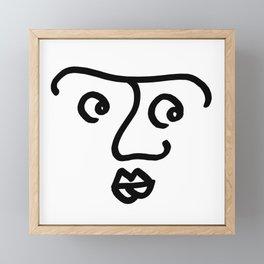 Wondering Face Framed Mini Art Print