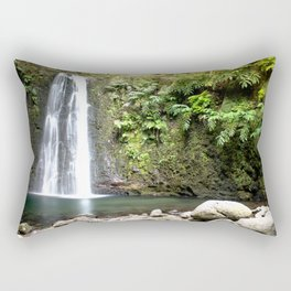 lime green waterfall Rectangular Pillow