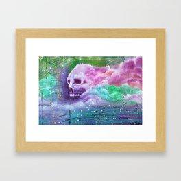 Skull Cloud Framed Art Print