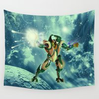 robot Wall Tapestries featuring Robot  by nicky2342