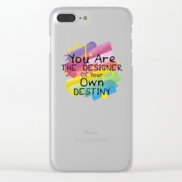 Destiny Rainbow Quotes LGBT Pride Clear iPhone Case