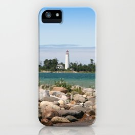Beach with a view iPhone Case
