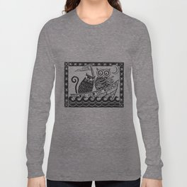 The Owl And The Pussycat (white background) Long Sleeve T-shirt