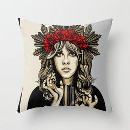 Stevie Nicks White Witch Throw Pillow
