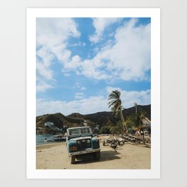 Taganga Colombian Beach Art Print