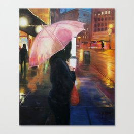 Rainy SF Canvas Print