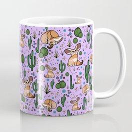 Cute Cactus and Fennec Fox Coffee Mug