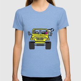 Jeep Wave Girl - Yellow T-shirt