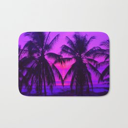 Pink Palm Trees by the Indian Ocean Bath Mat