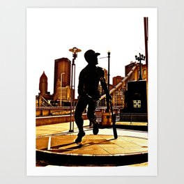 Roberto's Shadow Lives In Roberto's City Art Print