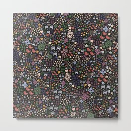 476-Small scale abstract flowers ditsy pattern Metal Print