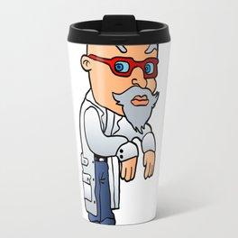 Cartoon mad scientist Travel Mug