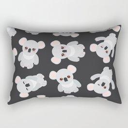 Funny cute koala on black background Rectangular Pillow