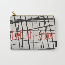 Best foot forward - Let it snow Carry-All Pouch