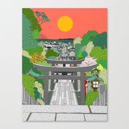 Passage to Light - Miyajidake Shrine Canvas Print