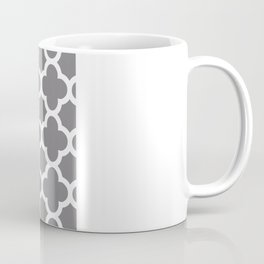 Gray Quatrefoil Coffee Mug