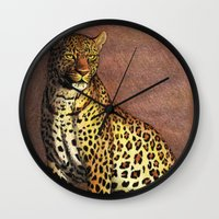 panther Wall Clocks featuring Panther by Savousepate