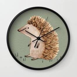 Hedgie Has a Sit Down Wall Clock