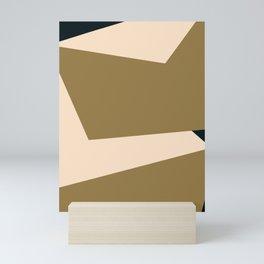 Minimal abstract geometric painting Mini Art Print