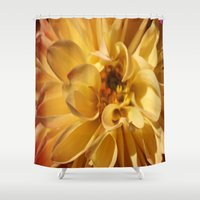dahlia Shower Curtains featuring Dahlia by Uncommon Alchemy