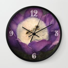 Sleepy Baby Frogmouth Wall Clock
