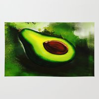 avocado Area & Throw Rugs featuring Avocado by Marven RELOADED