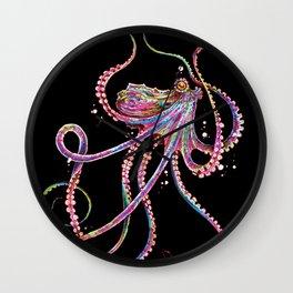 Reverse Drunk Octopus Wall Clock