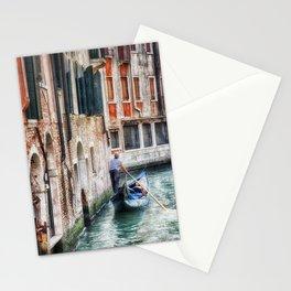 Gondolier, Venice, Italy Stationery Cards