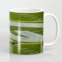 nfl Mugs featuring NFL MVP Aaron Rodgers by David Konieczko