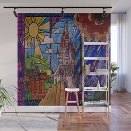 Castle Stained Glass Wall Mural