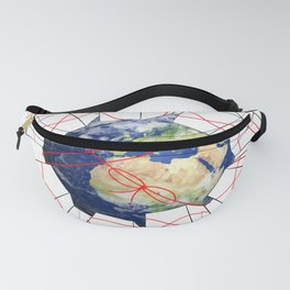 Wrapped to a Warped World Fanny Pack