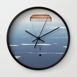 The Soyuz MS-02 spacecraft is seen as it lands with Expedition 50 near the town of Zhezkazgan Kazakhstan April 10 2017 Wall Clock