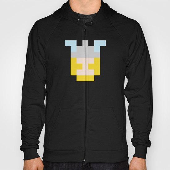 hero pixel flesh yellow grey Hoody