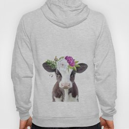 Baby Cow with Flower Crown Hoody
