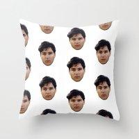 ezra koenig Throw Pillows featuring EZRA KOENIG by brucetimms